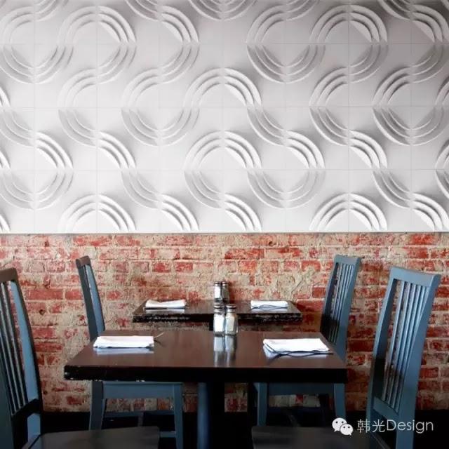 Mio Culture工作室設計的Ripple Paper Forms(波紋紙樣式)牆磚。