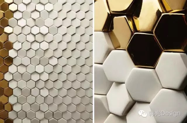 Giles Miller公司的亞歷山大3D陶瓷磚