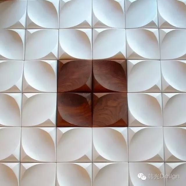 urbanproduct公司設計的由混凝土和木材製成的Dune牆磚