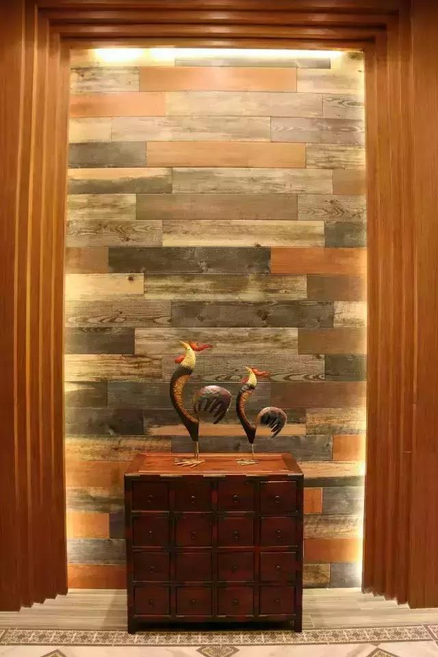 木紋磚背景牆別有風味